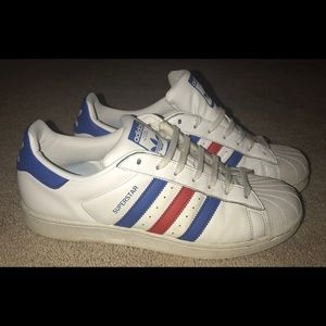 RARE!! Red, white and Blue superstars.